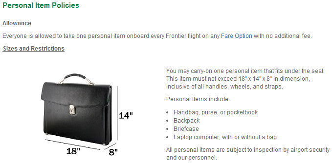 tip avoid frontier airlines bag fees