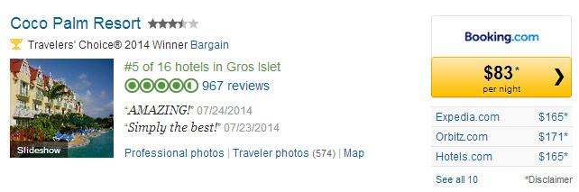CoCo Palm Resort: Links to TripAdvisor Page.