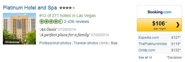 Platinum Hotel Las Vegas 1