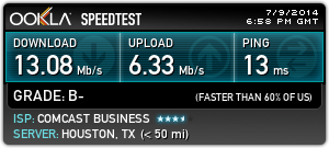united club speedtest