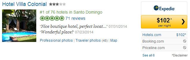 8-4-14 Hotel Villa Colonial, Santo Domingo, DR