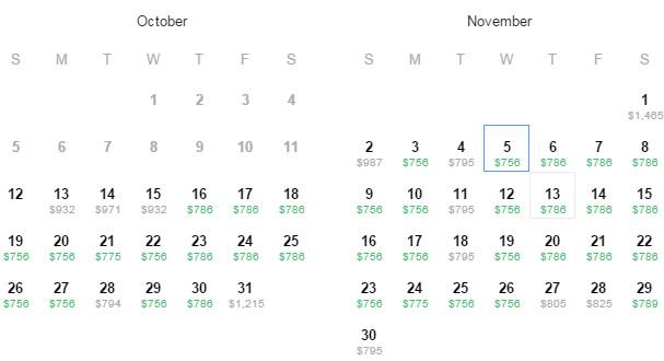 Flight Availability: San Antonio (SAT) to Brussels, Belgium (BRU) as of 11:37PM on 10/12/2014