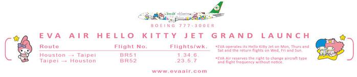 Hello Kitty Jet Launch Schedule.