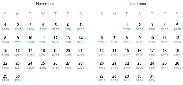 Flight Availability: Houston to Bogota as of 4:24 PM on 8/28/15.