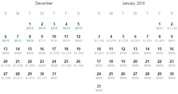Flight Availability: Houston to Sao Paulo as of 12:05 PM on 10/3/15.