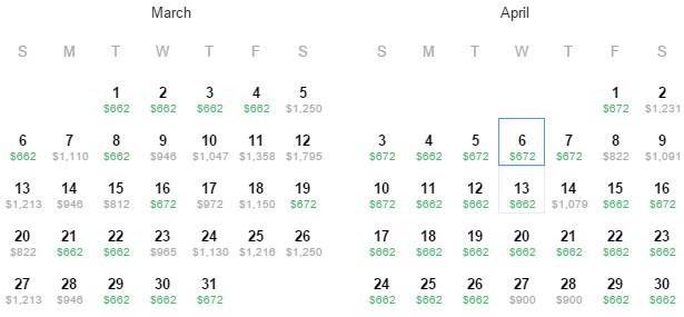 Flight Availability: Houston to Copenhagen as of 1:51 PM on 2/24/16