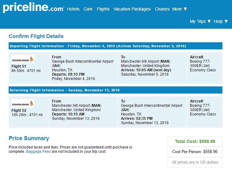 Nonstop Flights: Houston to Manchester, England $559-$605 r/t ...