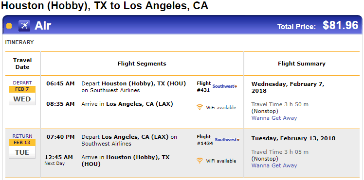 the latest 79592 3491b Nonstop Flights  Houston to from Los Angeles  80 r t – Southwest