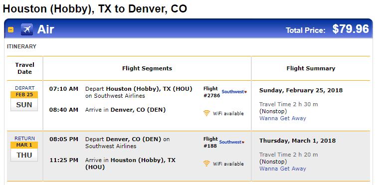 Nonstop Flights Houston To From Denver 80 R T Southwest