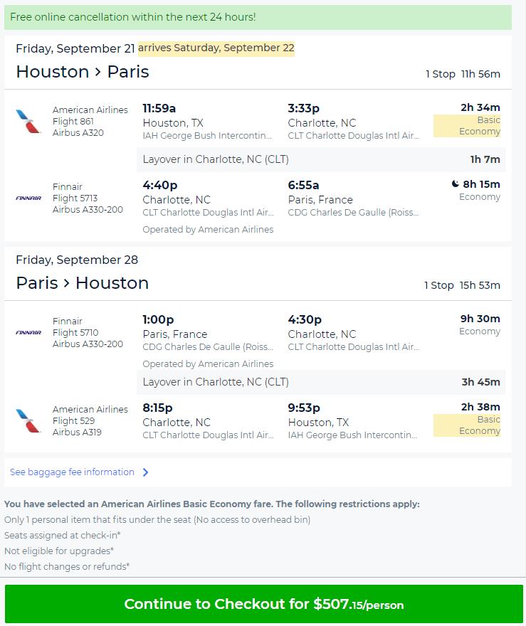 Houston To Paris Flight And Hotel
