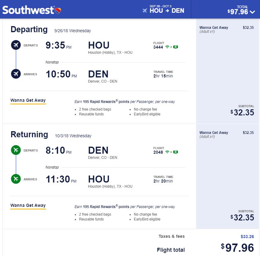 Nonstop Flights Houston To From Atlanta Denver 89 99 R T Southwest
