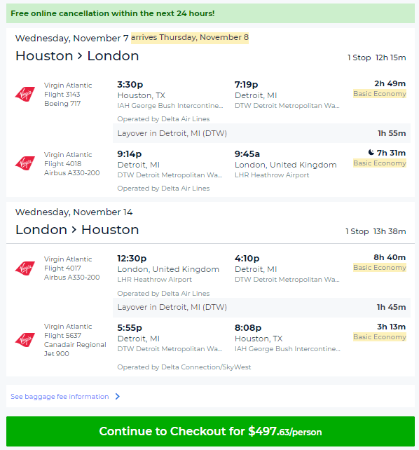 Cheap Flights Houston To London 482 498 R T Virgin